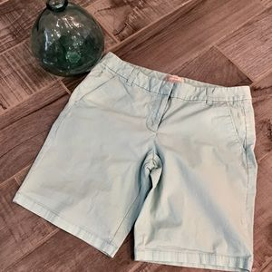 J Crew Bermuda Light Teal Shorts